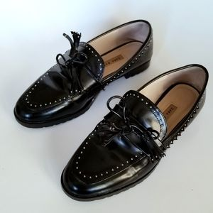 🍁2for$28🍁 Zara Micro-Studded Loafers
